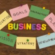 Business elements note — Foto de Stock