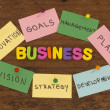 Stock Photo: Business elements note