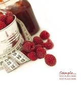 Jam of raspberries — Stock Photo