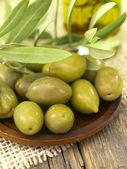 Olives arrangement — Stock Photo