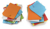 Collection of colorful paper notes — Foto de Stock