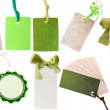 Collection of green labels - Stockfoto