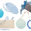 Collection of blue tags — Stock Photo