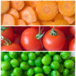 Collage of fresh vegetables - Stock Photo