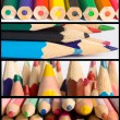 Collage of pencils — Stock Photo