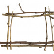 Frame of natural branches — Stock Photo
