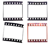 Collection of old used 35mm films — Stock Photo