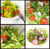 Collage of different salat — Stock Photo