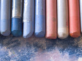 Blue pastels — Stock Photo