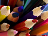 Pencils on black background — Stock Photo