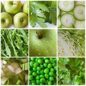 зеленые овощи и фрукты — Стоковое фото