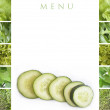Stock Photo: Green menu