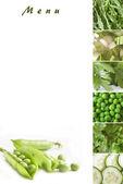 緑の野菜メニュー — ストック写真