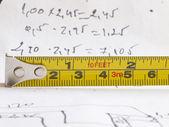 Measuring tape — Stockfoto