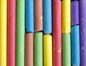 Colorful crayons background — Stock Photo