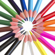 Colorful pencils in the circle — Stock Photo