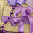 Gifts in the purple arrangement — Stock Photo #11330413