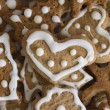 Heart shape cookies — Stock Photo
