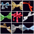 Collection of colorful bows - Stock Photo