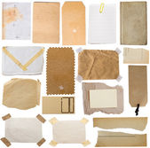 Collection of various paper notes — Stock Photo