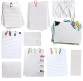 Collection of paper notes with clips — Stock Photo