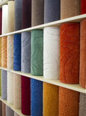 Carpets in different colors — Stock Photo