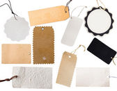 Collection of various tags — Stock Photo
