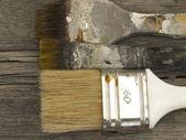 Antigo usado escovas — Foto Stock
