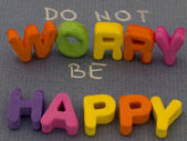Dont worry be happy concept — Stockfoto