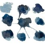 blobs de couleur bleue isolés — Photo #11340007