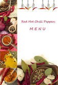 Red Hot Chili Peppers Menu — Stock Photo