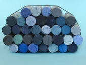 Blue dried pastels — Stock Photo