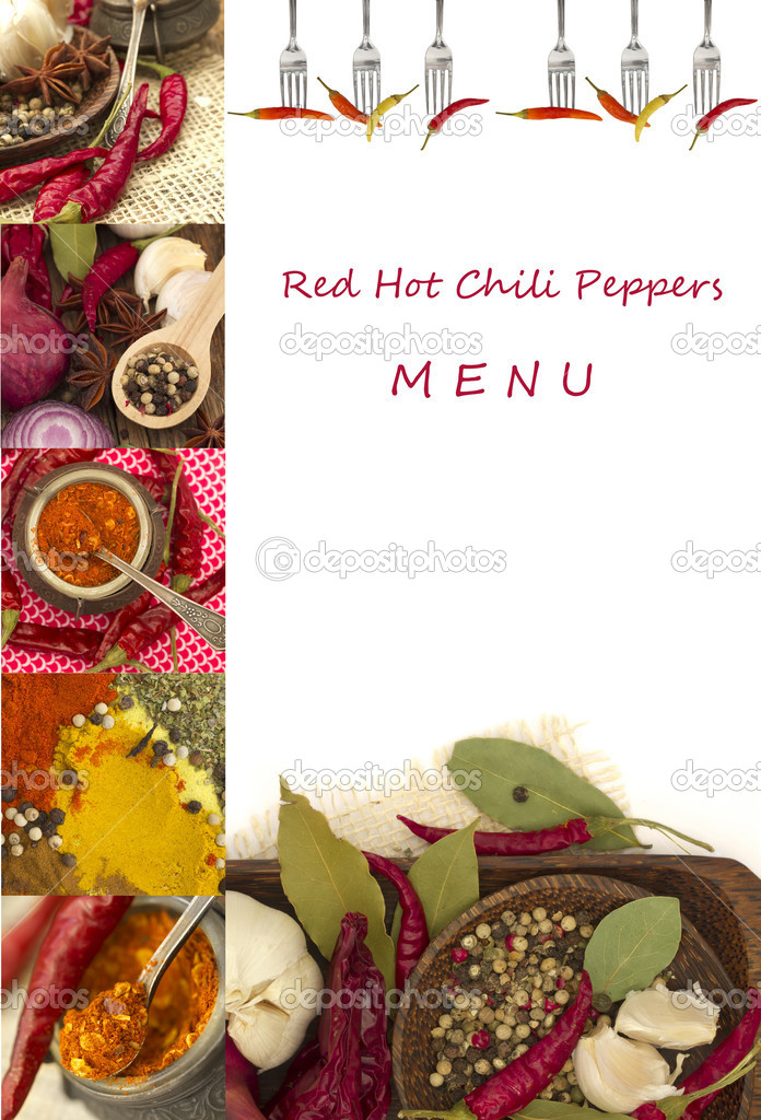Red Hot Chili Peppers Menu  — Stock Photo #11342263