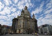 The famous Frauenkirche in Dresden — 图库照片