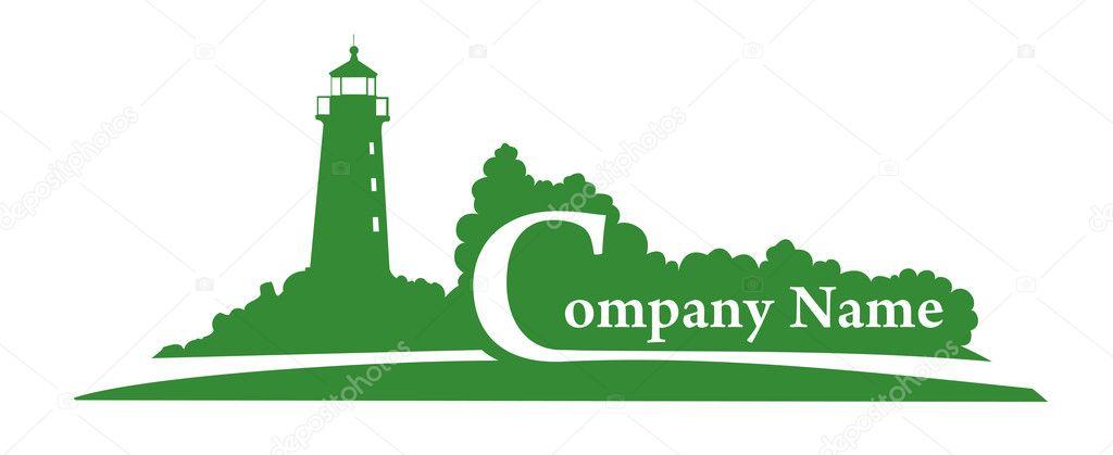 Green Lighthouse vector logo for your company — Stock Vector ...