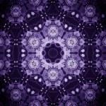 Mandala Purple Flower — Stock Photo