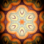 Mandala apricot-orange Flower — Stock Photo