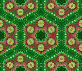Pattern Herbal-Green Flower — Stock Photo
