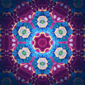 Mandala Six-Pointed Flower — Stock Photo