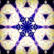 Mandala Blue snowflake — Stock Photo
