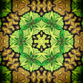 Mandala Green Flower — Stock Photo