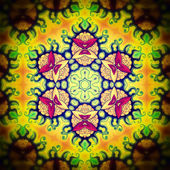 Mandala Yellow Red Flower — Stock Photo