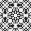Pattern Monochrome Flowers — Stock Photo