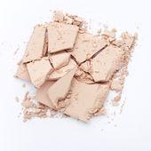 Close up of crushed facial powder — Stock Photo