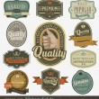 Vintage premium quality and most popular labels. — Vector de stock #11145766