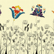 Traditional flowers and herbs — Image vectorielle