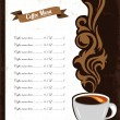 Coffee menu design — Stock Vector