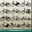 Vector bicycle silhouette set — Stok Vektör #11310565