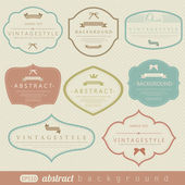 Retro vintage labels — Vector de stock