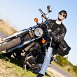 A man on a motorcycle — Stock Photo